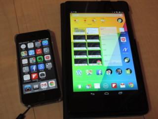 iPhone5sとNexus 7