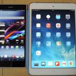 iPad mini retina,Nexus7(2013),Xperia Z Ultra(SOL24)比較検討