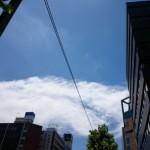 台風一過の快晴