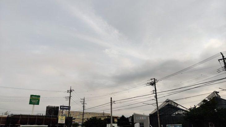 8月10日 富士山見えず